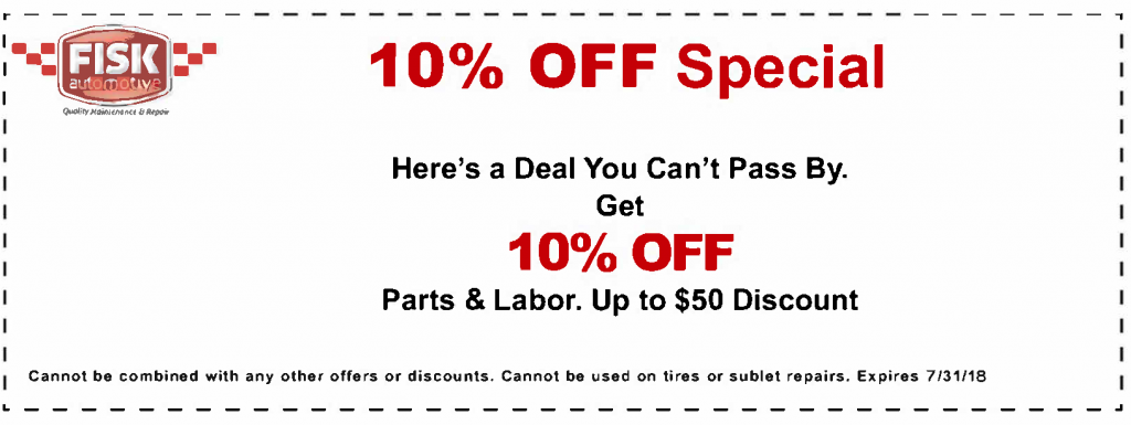 10$ Off Special