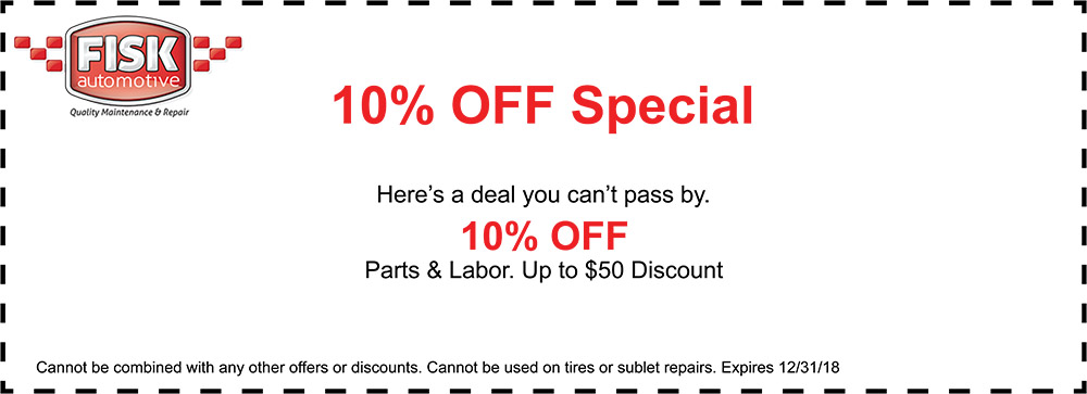 10% off special