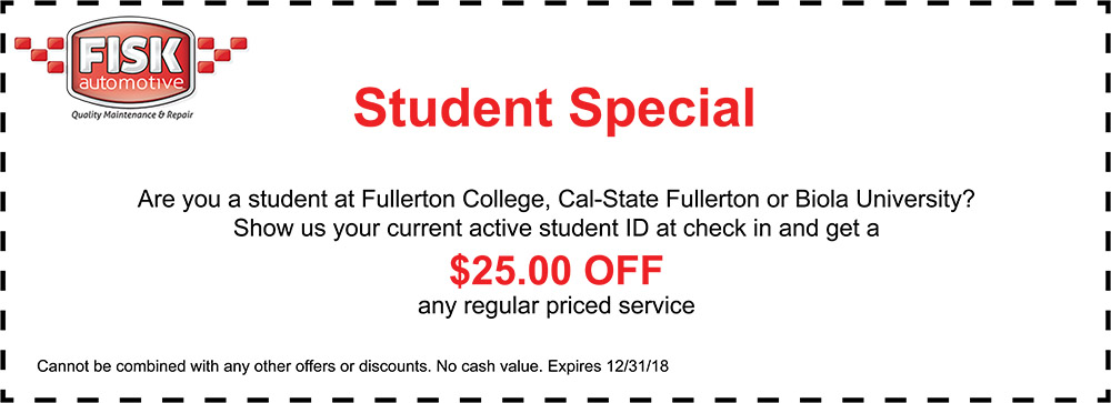 student special coupon